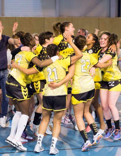 victoire de l'equipe 1 fille HBCTS