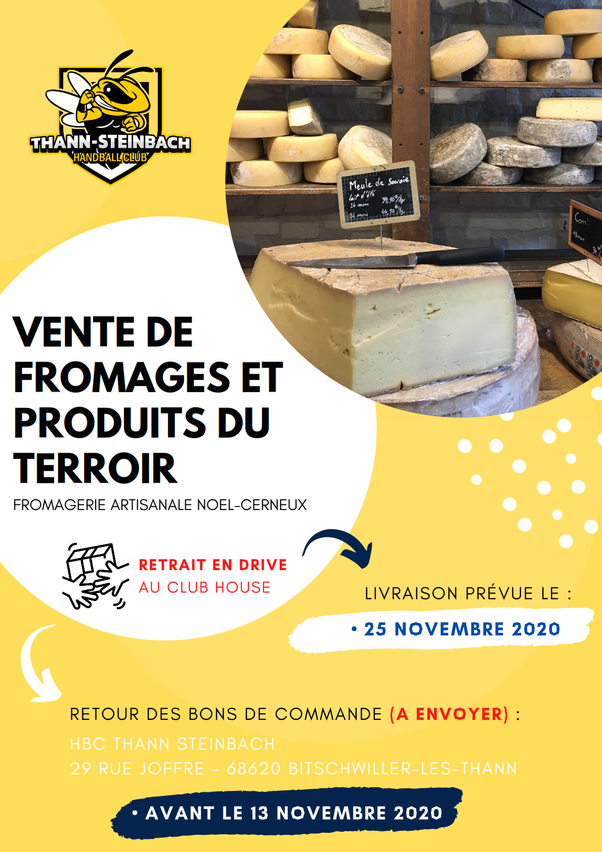 AFFICHE VENTE FROMAGE 2020